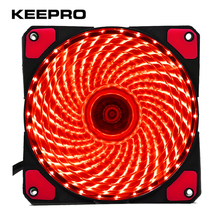 KEEPRO Original 33 Lights 120mm PC Computer LED Silent Fan 12V Luminous 3Pin 4Pin Plug Computer Case Heatsink Cooler Cooling Fan(China)