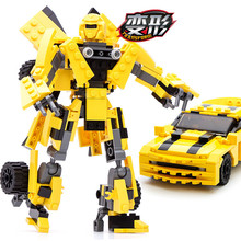 2 In 1 Transformation Series Legoings Building Block set Model Robot Vehicle Sport car 3D model Toys Children Birthday Gifts(China)