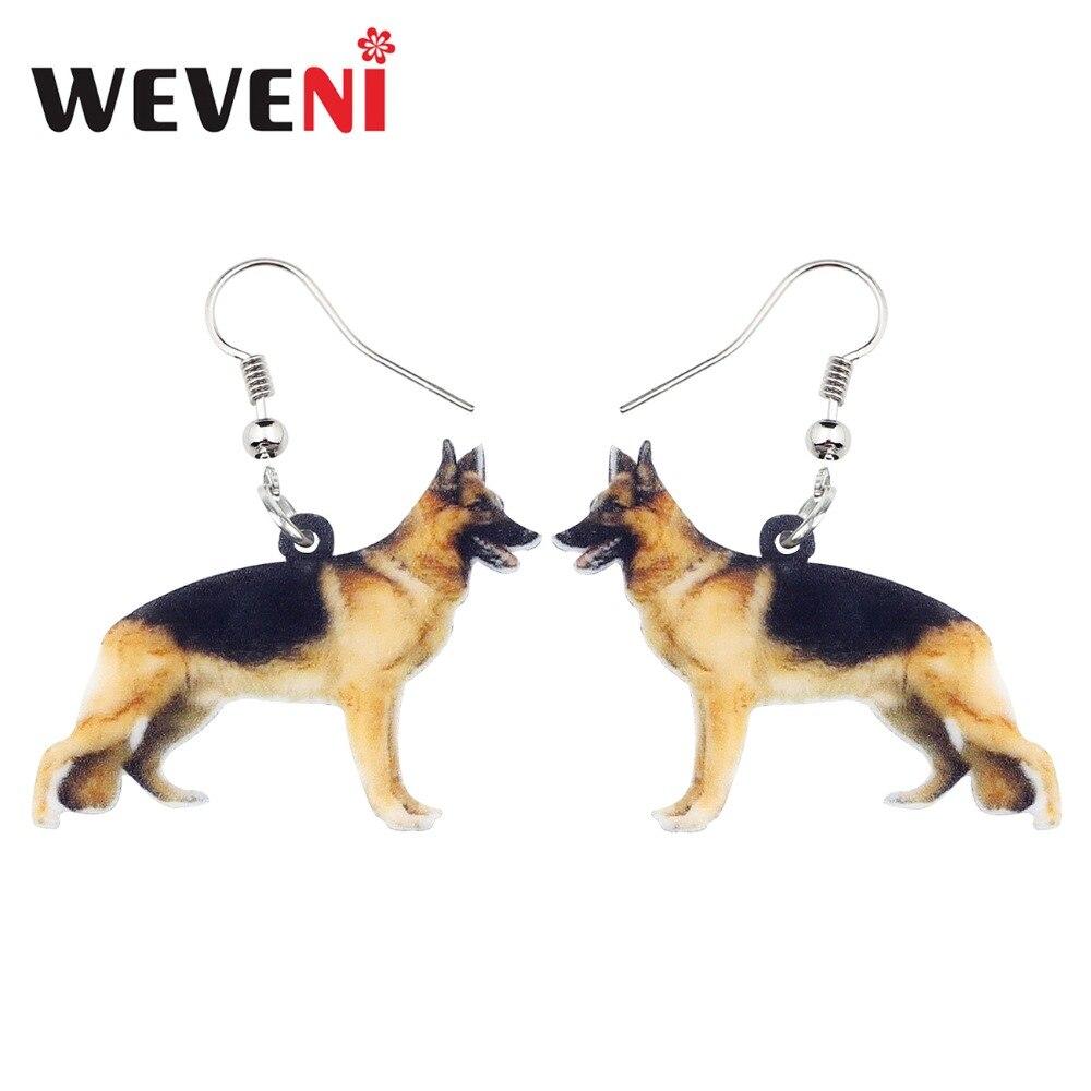 Acrylique berger allemand chien Boucles d/'oreilles Goutte Dangle pour femmes Charms Animal Bijoux