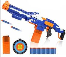 Soft Bullet Toy Gun Sniper Rifle Nerf Plastic Gun & 20 Bullets 1 Target Electric Gun Toy Christmas Birthday Gift Toy For Child
