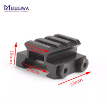 "1/2"" 3-Slot Low Riser Weaver Picatinny Rifle Mount Scope Mount Rail 20mm  Base Adapter Gun Airgun Hunting Caza Accessories"