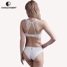 Buy CR Intimates 2017 New Women Sexy Lingerie Lace Y-line Straps Back Closure Bra Hollow Panties Bra set Underwear WI472