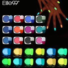 Elite99 Night Glow Powder + Temperature Color-changing Powder Mixed With UV Gel Polish Chrome Pigment DIY Nails Manicure Kits