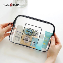 TANGIMP Transparent Cosmetic Bags PVC Toiletry Bags Travel Organizer Necessary Beauty Case Makeup Bag Medicine Box