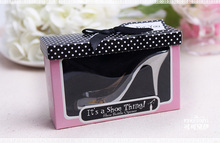 "100PCS/LOT High Heel Shoe Bottle Openers Wine set wedding favor and gifts ""it is a shoe thing""(China)"