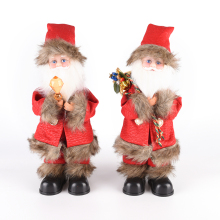 Christmas Electric Santa Claus Toy Dance Snging Toys Christmas Decorations For Home Navidad Natal Gift For Kids 9.5*12*10.5cm(China)