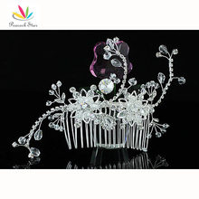 Bridesmaid Bridal Wedding Party Quality Handmade Crystal Beads Hair Comb CT1369