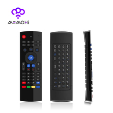 MX3 2.4G Wireless Keyboard Controller Remote Control Air Mouse support T3 Mic & IR Learning Fly For Android TV Box PC Projector