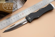 JUFULE Made Marfione HALO IV V Nemesis D2 blade aluminum handle camping hunting survival EDC tool Fixed Blade kitchen knife