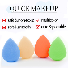 2 Sizes blue orange Great Beauty Soft Sponge Drop Shape Blender Makeup Blending Foundation Smooth Sponge Cosmetic Powder Puff