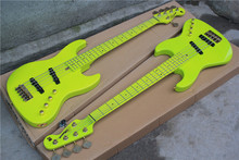 Hot sale Factory custom 5 strings alder body Electric Bass Guitar with moon pattern,golden hardware,can be customized