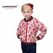 Fasion Brand Spring Girls Baseball Jacket Kids Print Coat for baby children zipper sport style Outerweat Europe costume