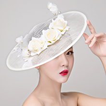 Elegent Women wedding Flower Hat party Hair Fascinator clip Women Cocktail Dinner Party Headwear Hair clip hair accessories