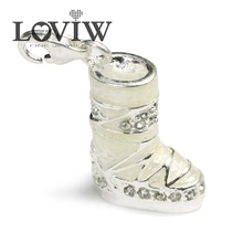 Snow Boots Trendy Charm Pendant with clasp ,Charm Fashion style Jewelry For Women,Thomas Shoe Winter Gift Silver Fit Bracelet(China)