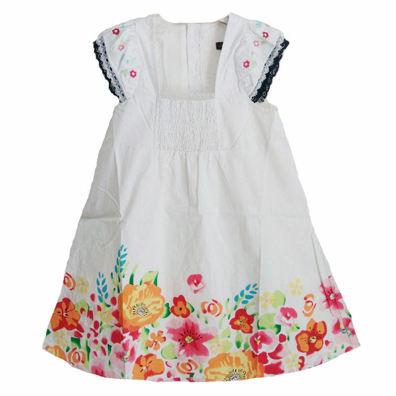 flower girl dress costume dress white fashion 2017 new summer brand embroidery floral kids princess dress for baby girl clothes <br><br>Aliexpress