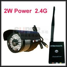 2.4G  wireless CCTV camera,2W waterproof 2.4G wireless kits,1/4 Sharp CCD sensor 420TV line & 42pcs IR LED,