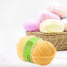 1Pcs free shipping new 50g/ball Worsted Soft Smooth Natural Silk Wool Baby Knitting Sweater Knitting Yarn