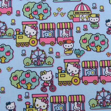 1 yard Vinyl Waterproof Fabric - Hello kitty - blue  (width=145cm)