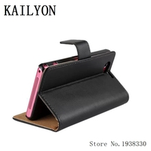 Buy KAILYON Luxury Genuine Leather Case Sony Xperia Z1 Compact Z1 Mini Wallet Flip Style Cell Phone Cover Bags Stand Card H for $4.34 in AliExpress store