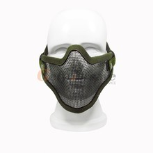 Steel Mesh Half Face Mask Guard Protect For Paintball Airsoft Game Hunting QT