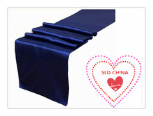 "Free shipping 36pcs 12""x108""  navy blue TABLE RUNNER party  / birthday party decorations kids"