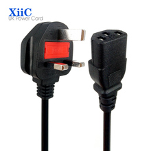 1.8m 6ft 3 Prong 3 Hole UK Plug Power Cord EN Cable 13A Fuse fit Laptop Tablet Adapter United Kingdom Singapore India Malaysia