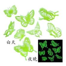 1 Set Butterfly Wall Stickers Luminous Fluorescent  Plastic 3D Stars Glow In The Dark home decor feb15