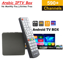 5pcs Lifetime Free Arabic IPTV Box Mars TV Server Support 590+ Arabic French UK Sports live tv Channels VOD Android TV Box(China)