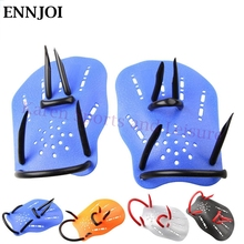 ENNJOI 1Pair Professional Swimming Paddles Swimming Fins Training Adjustable Silicone Hand Webbed Gloves Paddles Swimming Fins(China)