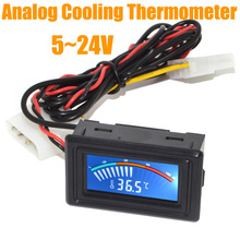 5~24V LCD PC Water Cooling Thermometer Digital Computer Temperature Gauge Tester Free Shipping with Track Number 10000861
