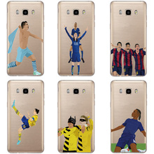 Football Soccer Star Messi Case For Samsung Galaxy J3 J1 J7 J5 2016/2015 Cases For J3 2016 Silicone Transparent Sports Cover