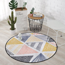 Europe Modern Round Carpets For Living Room Computer Chair Area Rug Home Entrance/Hallway Doormat Kids Play Tent Floor Mats(China)