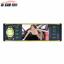 4019B 4.1 inch 1 Din Car Radio Audio Stereo 1Din USB AUX FM Radio Station Bluetooth with Rearview Camera Remote Control(China)