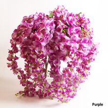 Hot Sale Home Decoration Romantic Artificial Wisteria Silk Flower Home Party Wedding Garden Floral