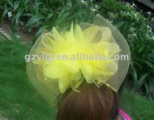 Fashion FASCINATOR ,dances,races,weddings,Party HAT costume Yellow h095
