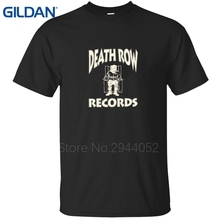DEATH ROW RECORDS SNOOP DRE GANGSTER RAP CLASSIC SUGE KNIGHT 90S COMPTON blue shirt china tee shirts Size cotton nice for guys(China)