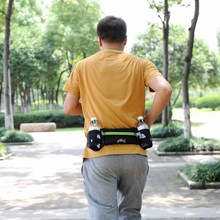 Hot Outdoor Sports Running Belt Bag With 2 Water Bottle Holder For iPhone 6S Plus Mobile Phone Walking Running Waist Belt Packs