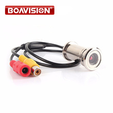 "BOAVISION New Upgrade 1/4"" 550TVL CMOS 3.6mm Lens Door Eye Hole Install Color Mini Security Camera Doorview CCTV Camera(China)"