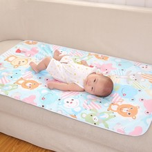 Large size Cartoon Cotton 3 Layers Baby Waterproof Mat Changing Mat Waterproof Mattress Sheet Bedding Baby Diaper Changing Pad