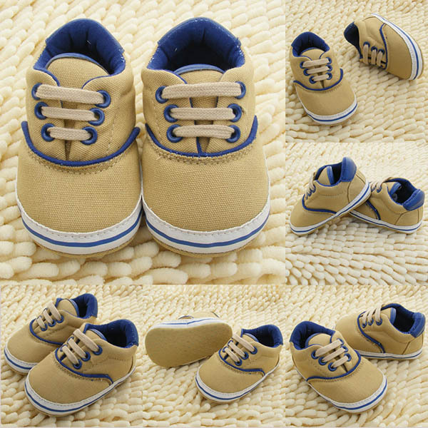 0-18M Toddlers Soft Sole Crib Shoes Infants Baby Lace Up Sneaker Prewalker Shoes<br><br>Aliexpress