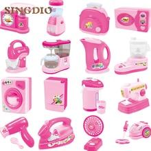 Mini Home Appliances Pretend Play Toys Kids Play House Kitchen Toys Set Educational toys Children Enlighten 16pcs