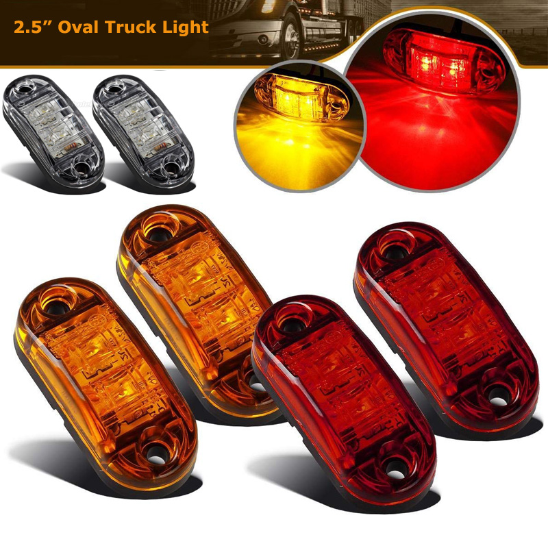 12//24v Led Amber Trailer Side Marker Light