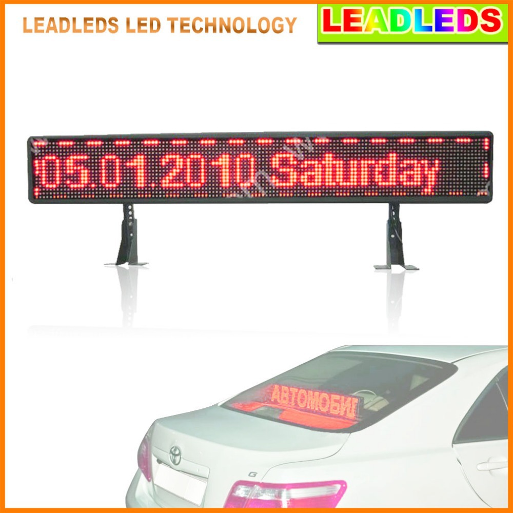P6 12v Red SMD Taxi Car rear window programmable USB input Scrolling Message led advertising display board(China (Mainland))