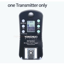 YONGNUO RF605C Wireless Group Flash Trigger 1 Transceiver only for Canon DSLR Cameras RF-605C Connecting Cable for C1 C3 Cameras