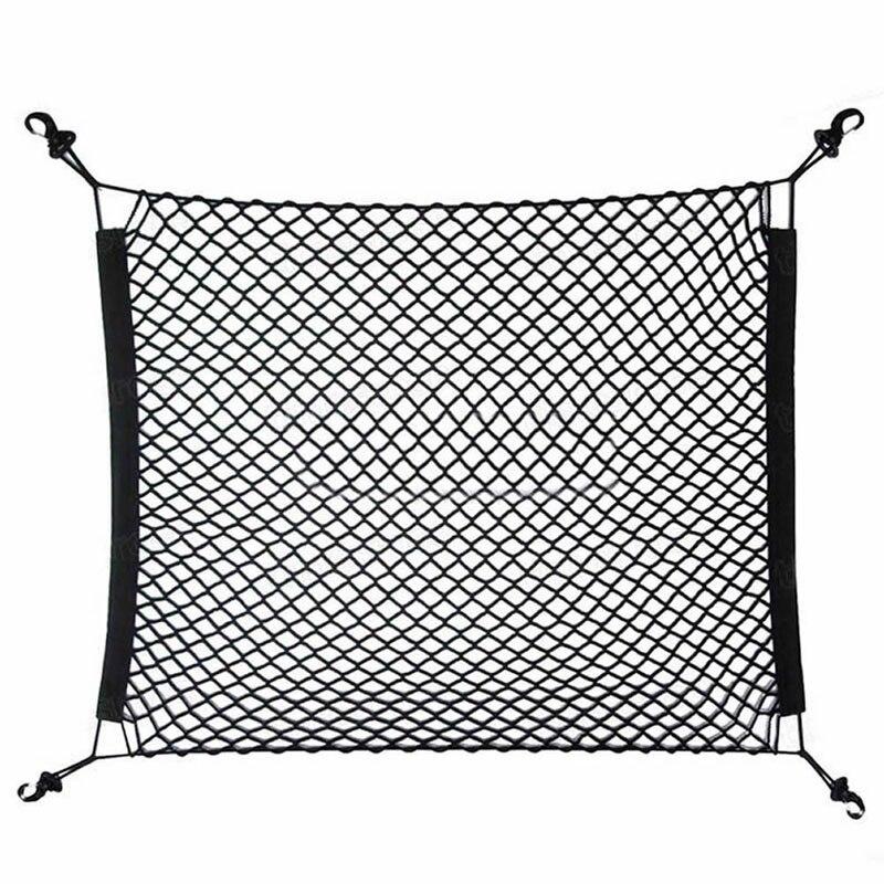 2017 Useful 70x70cm Car Rear Cargo Elastic Mesh Net Nylon Mesh Luggage Cover Bag Hot JUN08 _20