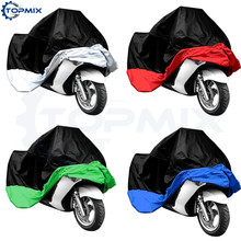 L/XL/XXL/XXXL Waterproof Motorcycle Motorbike Cover Electric Bicycle Rain Coat Dust Protector Black+Silver/Red/Green/Blue(China)