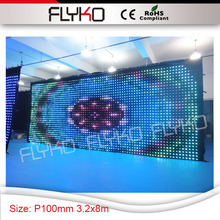 Pixel 10cm disco light event decorating materials led light display modern wall drop curtain decor