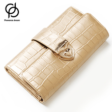 Buy PROVENCE DREAM Wallet Women Wallet Genuine Leather Wallet Female Purse Long Coin Purses Holders Ladies Wallet Hasp PD56B for $18.90 in AliExpress store