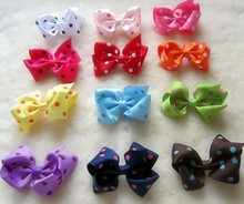 Freeshipping Baby Accessories Children Girls Jewellery Lovely Ribbon Bowknot Hair Clips Cute Kids Hair Clip 200pcs/lot(China)