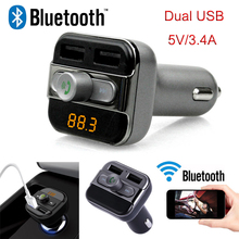 Car MP3 Audio Player Bluetooth FM Transmitter FM Modulator Car Kit Hansfree LCD TF Micro SD Dual USB Charger for iPhone Samsung